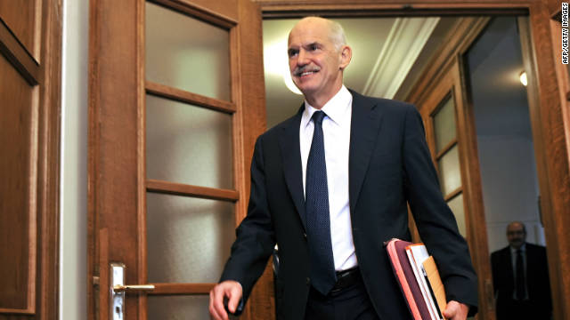 Greek opposition leader calls for Papandreou to step down