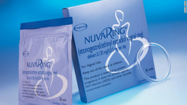 NuvaRing, approved for use in the United States in 2001, is a small, flexible ring inserted into the vagina. It releases estrogen and progestin, the same pregnancy-preventing hormones found in most variations of the birth-control pill.