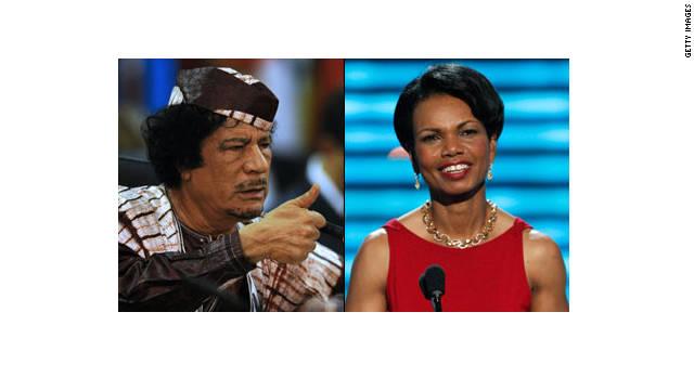 Condoleezza Rice dice que Gadhafi tenía una 'espeluznante' fijación con ella