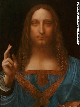 Leonardo da Vinci's &quot;Salvator Mundi,&quot; c. 1500, was, for years, thought to have been destroyed. It was only re-discovered in the last five years and will go on public display for the first time in London in November.
