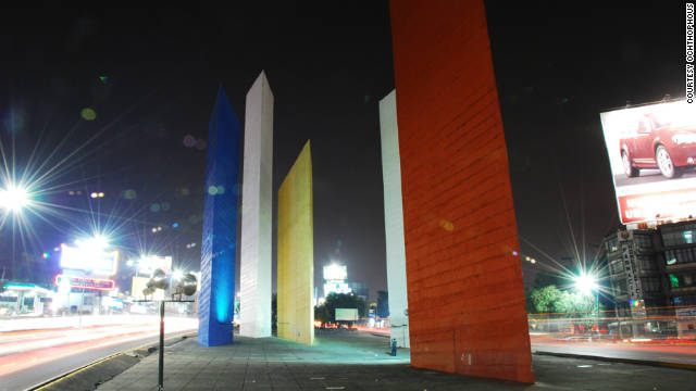 The Torres de Satelite sculpture by Luis Barragan in Mexico City gives a perspective of the city that &quot;I love very much,&quot; says Adjaye. Picture courtesy of &lt;a href='http://www.sieteyuno.com/' target='_blank'&gt;Ochthophous&lt;/a&gt;.