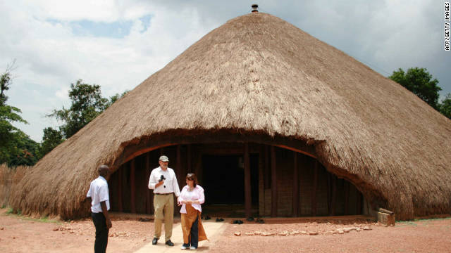 The Buganda Shrine in Uganda was once the biggest thatch structure of the Buganda civilization. It was burnt down in 2010 but Adjaye says &quot;its sheer power and meaning,&quot; had a profound effect on him.
