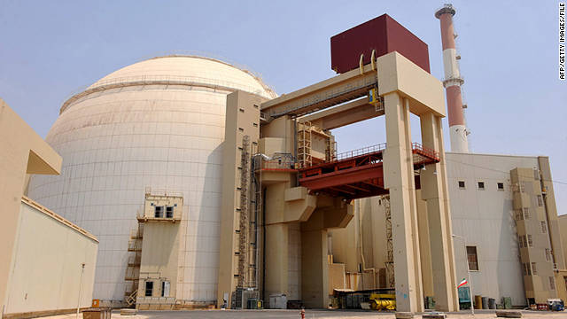A nuclear power plant is pictured in Bushehr, Iran, in 2010.