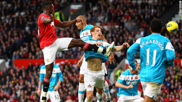 United won the Premier League match 1-0 thanks to an own-goal from Wes Brown, who was making his first return to his former club following his July move to Sunderland.