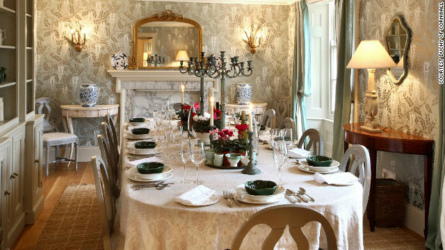 The manor is located within the Duchy of Cornwall's historic estate and sleeps 18 guests.