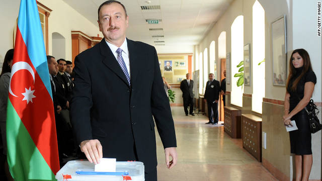 President Ilham Aliyev has been in power since 2003, although international observers have questioned the fairness of Azerbaijan's electoral processes.