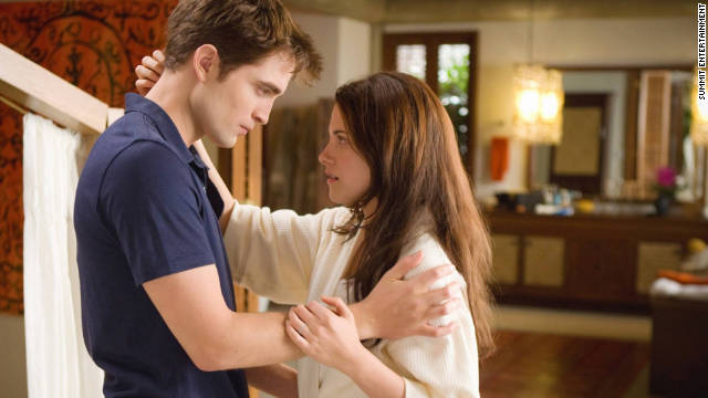 Robert Pattinson and Kristen Stewart in