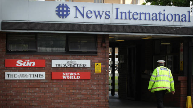 News International's Wapping plant in London, pictured last year.