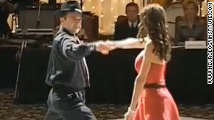 Majid and Bita Fotuhi dance the tango at a fundraising gala for Alzheimer\'s research.
