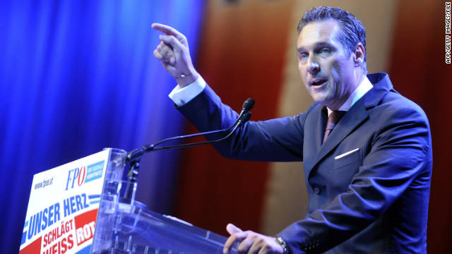 Heinz-Christian Strache, leader of the Austrian populist Freedom Party (FPO), was re-elected its president on June 18 in Graz.