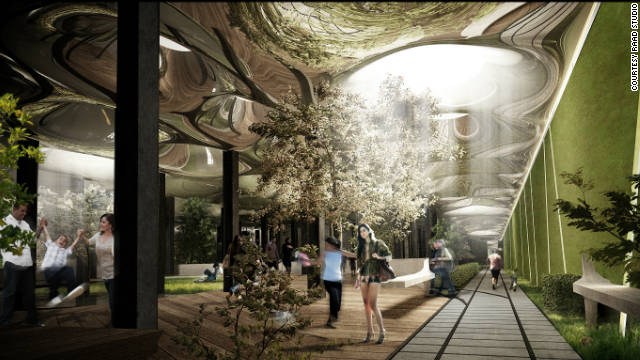 RAAD Studio designed this plan to turn an abandoned underground trolley terminal in New York City into a subterranean park.