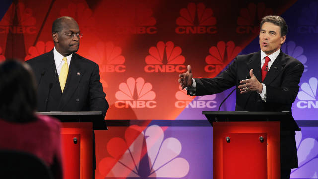 Going into the Republican Debate, all eyes were on Herman Cain as he was in this lewd sexual harassment scandal, but Rick Perry stole the spotlight away from Cain with a verbal-gaffe of his own.