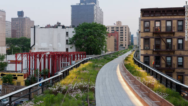 "New York's ""High Line"" park, built in 2009 from an old railway line above the city streets. The Delancey Underground has already been dubbed the ""Low Line."""