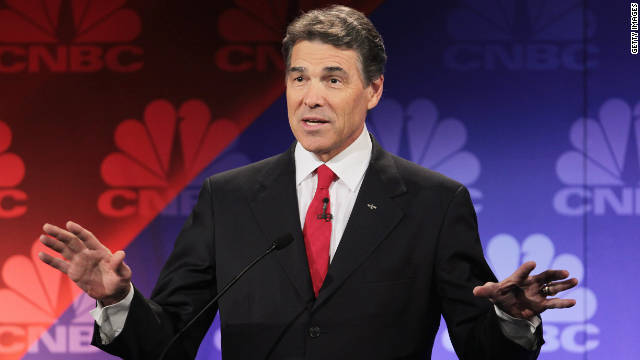 Republican hopeful Rick Perry became the first candidate in history to say &quot;oops&quot; during a debate after forgetting the name of the third government agency he'd pledged to cut.