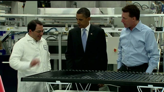 President Barack Obama had touted Solyndra in a widely publicized visit after the loan guarantee came through.