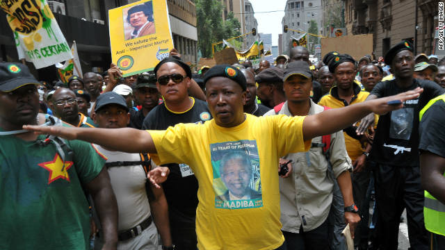 Controversial African National Congress youth leader Julius Malema has been from all party activities.