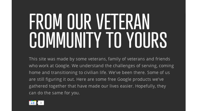Google launches YouTube and Google+ project to connect returning vets