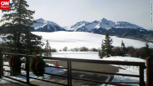 "Nelson Rhodus snapped this shot of Telluride during the holidays. ""The main venues are fantastic, but there are also wonderful back country bowls and off-trail areas."""