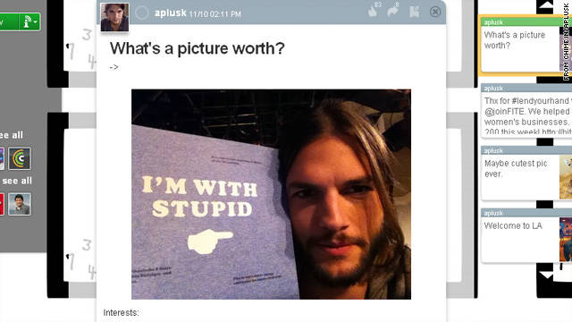 Ashton Kutcher tries to lighten the mood