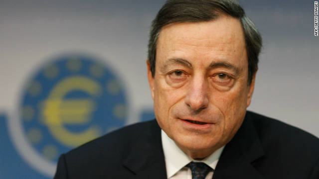 Mario Draghi, new president of the European Central Bank (ECB), speaks to the media in Frankfurt on November 03, 2011.