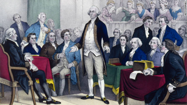 George Washington, shown in 1775 when he was appointed commander in chief of the Continental Army.