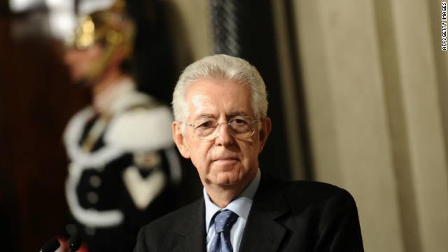 'Súper Mario' Monti toma la posta del poder en Italia, tras la renuncia de Berlusconi