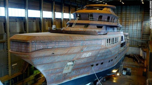 The superyacht is currently being built in Norway and is about 18 months away from completion, its owners say.