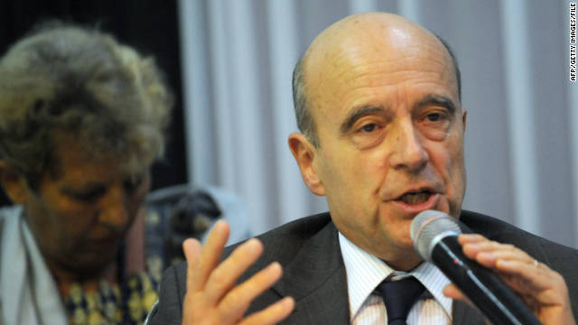 Alain Juppe, pictured here last week, thanked