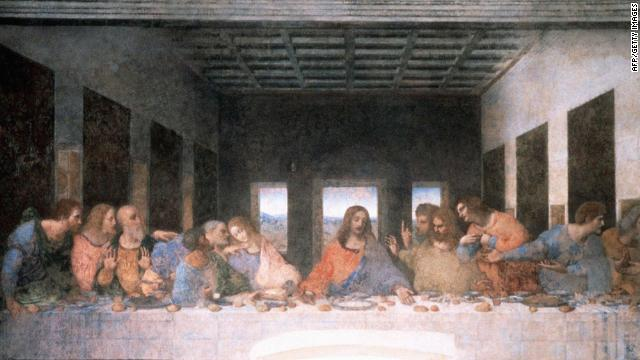 An Italian musician believes that the positioning of the disciples' hands and the bread rolls on the table could be read as musical notes, suggesting a secret requiem threaded into the work.