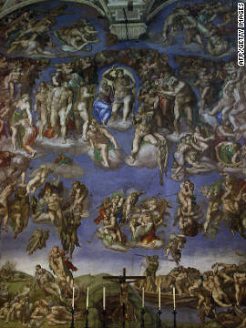 Michelangelo's &quot;Last Judgement&quot; at the Sistine Chapel in the Vatican is believed by some to contain coded messages preaching religious tolerance.