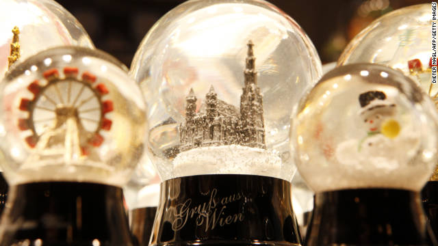A small Viennese firm claims to have invented the snowglobe, and the trinkets are for sale at the city's Christmas markets.