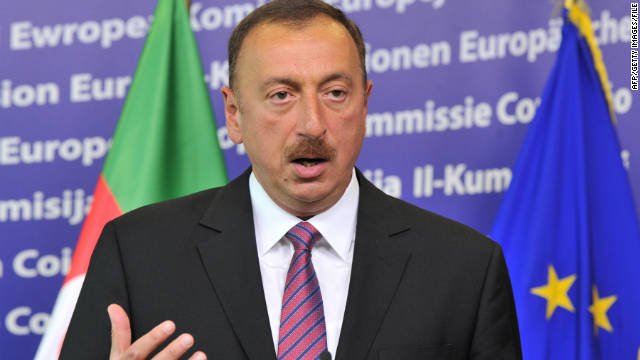 An Amnesty official said that Ilham Aliyev, pictured here in June, uses techniques described as despotic in other parts of the world.