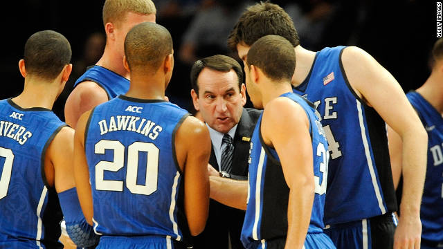Duke's victory over Michigan State on Tuesday made Mike Krzyzewski the winningest coach in men's major college basketball.