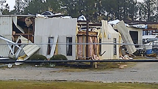 Severe weather and several unconfirmed tornadoes moved through parts of the Pine Belt early Wednesday morning.