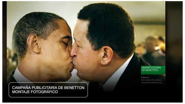 Chávez besa a Obama en una campaña publicitaria que promueve la tolerancia