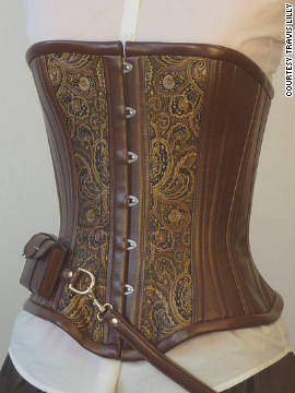 One of Travis Lilly's utility steampunk corsets.