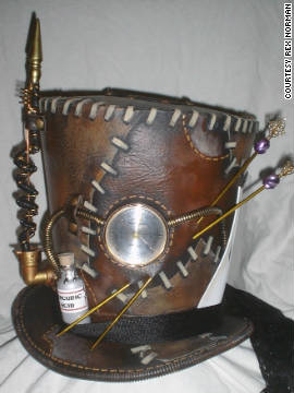 One of Rex Norman's steampunk top hat designs.
