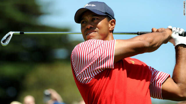 American golfer Tiger Woods is competing in his seventh Presidents Cup.