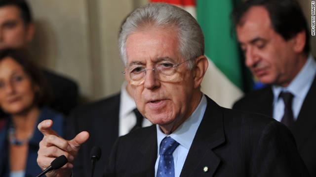 Mario Monti asume como primer ministro de Italia