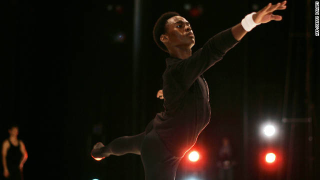 Ndlovu stretches ahead of the International Dance competition at the Artscape in Cape Town, South Africa. Since joining The Washington Ballet in 2008 he has won international awards in both the U.S. and his native South Africa.