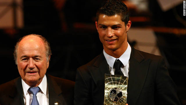 In 2008 Blatter was ridiculed after defending the desire of Manchester United's highly-paid star Cristiano Ronaldo to join Real Madrid. He said: &quot;I think in football there's too much modern slavery in transferring players or buying players here and there, and putting them somewhere.&quot; 