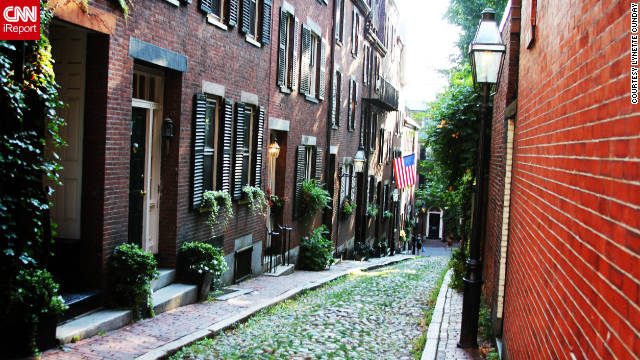 Lynette Cunday captured this serene scene on Acorn Street's cobblestone expanse in Beacon Hill. &quot;The city is so packed with little travel gems that if you do get a little lost you stumble upon a quiet park or busy market with fresh fruit that it becomes a memory worth the detour.&quot; 