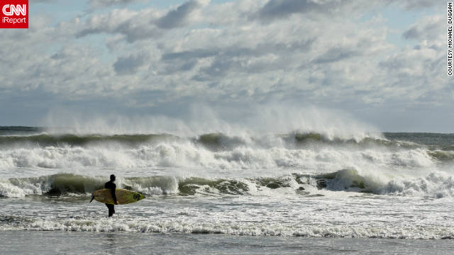 Michael Duggan took a photo of a New England surfer taking on a Nor'easter. &quot;I love the North Shore [near] Boston. There is a lot of history, the people are friendly and the beaches are great.&quot; 