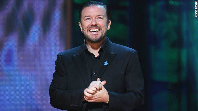 Gervais on Globes gig: Definitely my last time