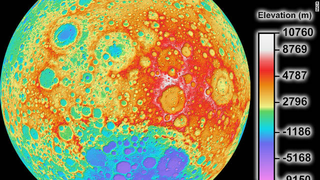 New topographic map of Earth's moon released