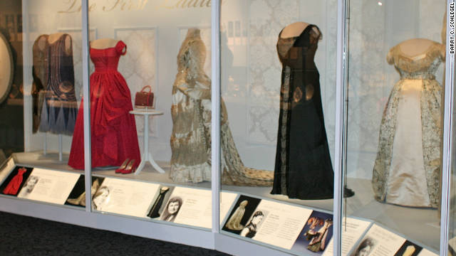 First ladies' gowns have been shown at the Smithsonian for 97 years in at least 10 exhibitions. The latest opens Saturday.
