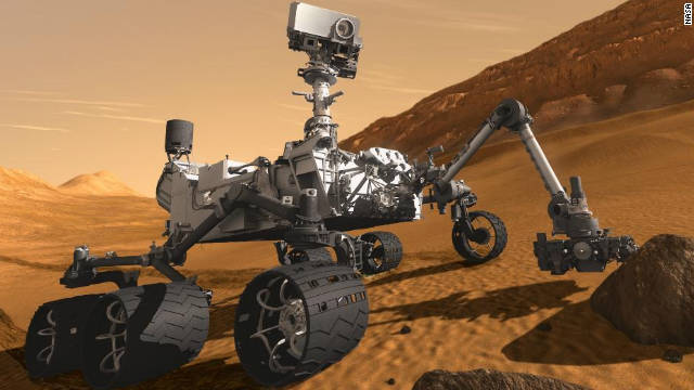 El &quot;Curiosity&quot; buscar pruebas de vida en un misterioso crter de Marte