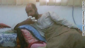 Gadhafi\'s son Saif al-Islam captured in the Libyan desert in November 2011.