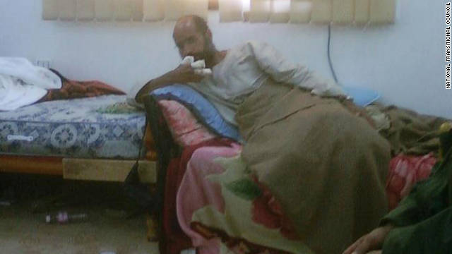 The Libyan National Transitional Council provided this photo it says is Saif al-Islam Gadhafi after his capture Saturday.