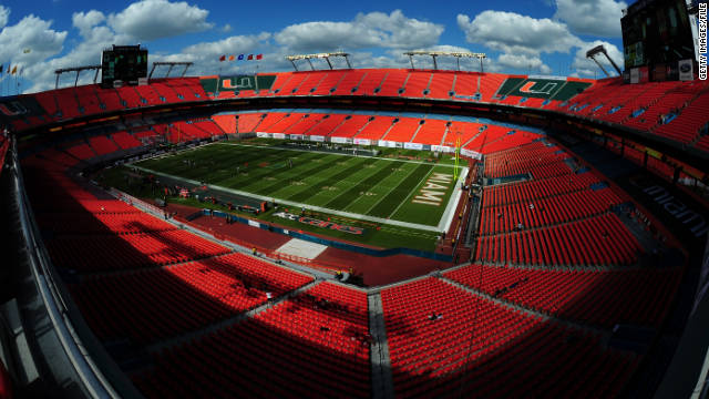 The University of Miami Hurricanes play their home games at Sun Life Stadium. A booster has admitted violating NCAA rules.